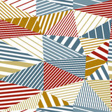 Seamless geometric abstraction. Royalty Free Stock Images