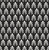 Classic Floral Art Deco Seamless Pattern. Geometric Stylish Texture. Abstract Retro Vector Texture. Royalty Free Stock Photo