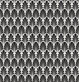 Classic Floral Art Deco Seamless Pattern. Geometric Stylish Texture. Abstract Retro Vector Texture. Stock Photography