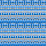 Seamless geometric background with ethnic style. Illustrated blue geometric seamless background in ethnic style, repeat pattern Royalty Free Stock Photo