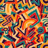 Seamless geometric background. Ethnic and tribal motifs. Hatchin Royalty Free Stock Images