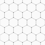 Seamless geometric background with hexagons. Vector seamless pattern. Geometric background with hexagons. Dots connected with lines. Modern stylish texture Stock Photos