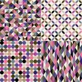 Seamless geometric background pattern. Seamless multicolor geometric background pattern royalty free illustration