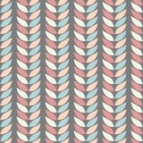 Seamless geometric background patterns of leaves in pastel colours on a background of graphite. Abstract leaf texture, vector illustration Stock Photo