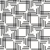 Seamless Geometric Background. Seamless background for your designs. Modern black and white ornament. Geometric abstract pattern Stock Photo