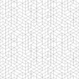 Seamless Geometric Background. Seamless black and white background for your designs. Modern ornament. Geometric abstract pattern Royalty Free Stock Photography