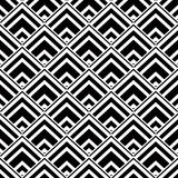 Seamless geometric background, simple black and white stripes ve Royalty Free Stock Images