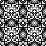 Seamless geometric background, simple black and white stripes ve Stock Photography