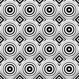 Seamless geometric background, simple black and white stripes ve Royalty Free Stock Photography