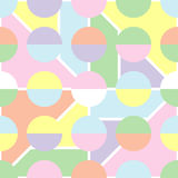 Seamless geometric background with soft pastel colors. Stock Images