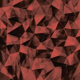 Seamless Geometric Background Of Triangular Polygons Pattern Stock Image