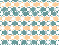 Seamless geometric background. Using hexagonal shapes stock illustration