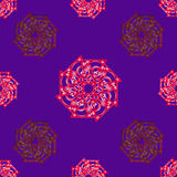 Seamless geometric background. Seamless geometric vector illustration on blue background Royalty Free Stock Image