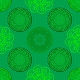Seamless geometric background. Seamless geometric vector illustration on green background Stock Photos