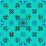 Seamless geometric background. Seamless geometric vector illustration on green-blue background Stock Photos