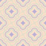 Seamless geometric beige background with blue and violet pattern. For wallpapers, textile and fabrics Stock Photos