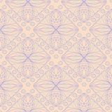 Seamless geometric beige background with blue and violet pattern. For wallpapers, textile and fabrics Stock Images