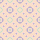 Seamless geometric beige background with blue and violet pattern. For wallpapers, textile and fabrics Royalty Free Stock Photos