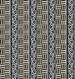 Seamless Geometric black and gold pattern royalty free illustration