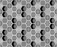 Seamless geometric black white pattern. Background royalty free illustration