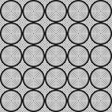 Seamless Geometric Black and White Pattern with Circles. Royalty Free Stock Photos