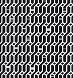 Seamless geometric black and white pattern  Network background  Wickerwork  Decorative endless texture for design textile Stock Photos