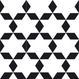 Seamless geometric black white pattern. To see similar patterns Royalty Free Stock Photography