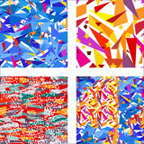 Seamless geometric patterns Royalty Free Stock Images