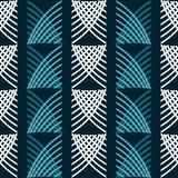 Seamless geometric blue and white pattern of intersecting curves. Seamless abstract geometric pattern of intersecting curves. Blue and white colors Vector Illustration