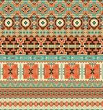 Seamless geometric borders Royalty Free Stock Photos