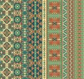 Seamless geometric borders Royalty Free Stock Photo