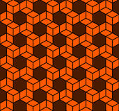 Seamless Geometric Box Pattern. Vector Royalty Free Stock Image