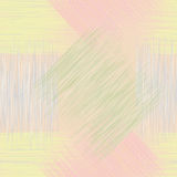 Seamless geometric checkered grunge striped patter Stock Photography