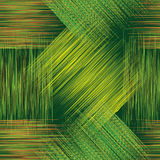 Seamless geometric checkered pattern with grunge stripes in green, yellow and brown colors Royalty Free Stock Photography