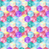 Seamless geometric color Low Poly texture Hexagon design pattern Stock Photos