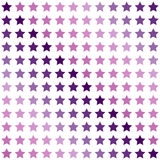 Seamless geometric colored pattern. Print with violet, purple and pink stars on white background. Stock Photo