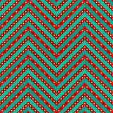 Seamless geometric colorful zigzag pattern. Vector illustration Vector Illustration
