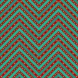 Seamless geometric colorful zigzag pattern Royalty Free Stock Photography