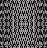 Seamless geometric concentric hexagon honeycomb pattern. Background royalty free illustration