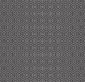Seamless geometric concentric hexagon honeycomb pattern. Background vector illustration