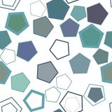 Seamless geometric Conceptual background pentagon pattern for design. Canvas, digital, creative & abstract. Seamless geometric Conceptual background pentagon royalty free illustration