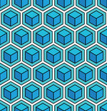 Seamless geometric cube background Royalty Free Stock Photography