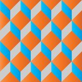 Seamless geometric cube pattern 3d. Tileable Royalty Free Stock Image