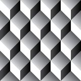 Seamless geometric cube pattern 3d. Tileable Royalty Free Stock Photography