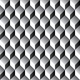 Seamless geometric cube pattern 3d. Tileable Royalty Free Stock Images