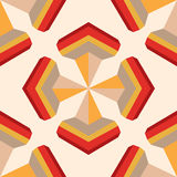 Seamless geometric 3D abstract pattern. For design, wallpaper, cover invitation, fabric. Vector background Stock Image