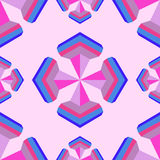Seamless geometric 3d abstract pattern on pink background.For de. Sign, wallpaper, cover invitation, fabric. Vector background Stock Photography