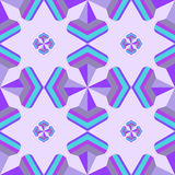 Seamless geometric 3d abstract pattern on purple background.For. Design, wallpaper, cover invitation, fabric. Vector background Stock Photo