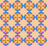 Seamless geometric 3d abstrct pattern. Creative geometric ornament on color background. For design, wallpaper, cover invitation, fabric. Vector background Stock Photos