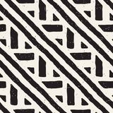 Seamless geometric doodle lines pattern in black and white. Adstract hand drawn retro texture. Seamless geometric doodle pattern in black and white. Adstract vector illustration